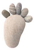 Каменный след ноги Стоковая Фотография RF