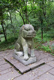 Каменный тигр стоковое изображение