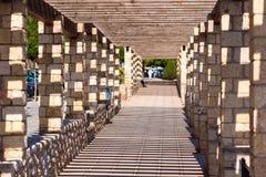Каменный тоннель, Таррагона, Catalunya, Испания Скопируйте космос для текста Стоковое Фото