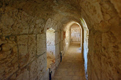 Каменный тоннель в Иерусалиме - Израиле Стоковые Фотографии RF