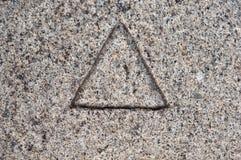 каменный треугольник Стоковые Фотографии RF