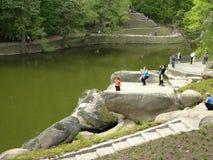 Каменный уступ стоковое фото