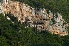Каменный философ монастыря внутри утеса Стоковая Фотография