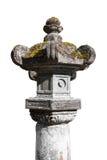 Каменный фонарик Япония изолировал стоковое фото rf