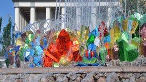 Каменный фонтан на территории выставки достижений национальной экономики стоковое фото rf