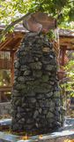 Каменный фонтан с опарником Стоковая Фотография RF
