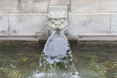 Каменный spout воды головы фонтана дракона Стоковые Фотографии RF
