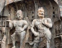 2 каменных буддийских статуи Стоковое фото RF