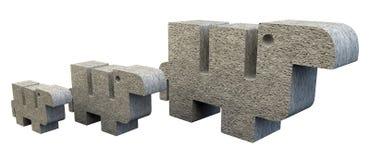 3 каменных верблюда Стоковая Фотография RF