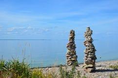 2 каменных кучи Стоковое Фото