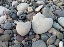 2 каменных сердца Стоковая Фотография
