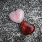 2 каменных сердца Стоковое фото RF