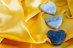 3 каменных сердца Стоковые Фото