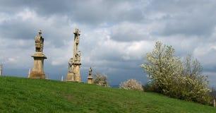 3 каменных статуи Стоковые Изображения