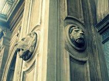 2 каменных льва Стоковые Фото