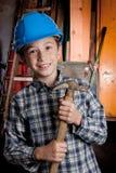 каменщик мальчика стоковая фотография rf