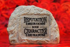 камень бросания Стоковые Фото