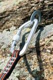 камень веревочки крюка штуцера Стоковая Фотография RF
