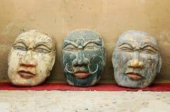Камень высекая в голове Будды стоковые фотографии rf