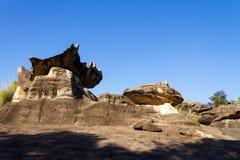 Камень гриба и небо блеска Стоковые Изображения RF
