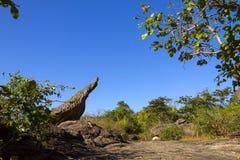 Камень гриба с небом блеска Стоковое фото RF