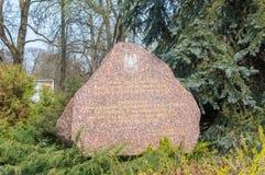 Камень для того чтобы чествовать те которые умерли от национальных войск и дивизионов стоковые изображения rf