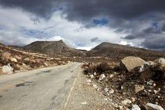 камень дороги горы к стоковые изображения rf