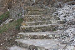 камень лестницы серии Италии старый Стоковая Фотография