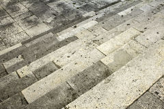 Камень лестниц цемента Стоковые Фотографии RF