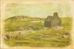 камень загубленный церковью Остров Dalkey Ирландия Стоковое Изображение RF