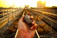 Камень & заход солнца Стоковое Фото