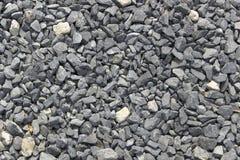Камень задавленный серым цветом Гравий текстура Стоковое Изображение RF
