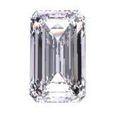 камень диаманта иллюстрации 3D изумрудный Стоковое Фото