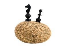 камень изолированный chessmans 2 Стоковое Изображение RF