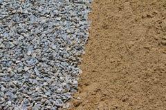 Камень и песок. Стоковые Изображения