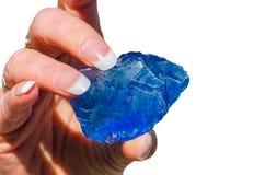 Камень кварца, стеклянный камень Стоковое Изображение