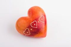 Камень красного сердца форменный Стоковое Изображение
