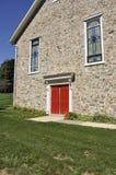 камень красного цвета дверей церков Стоковая Фотография RF