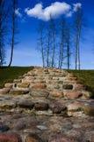 камень лестницы голубого неба Стоковое фото RF