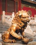 камень льва фарфора Стоковое Фото