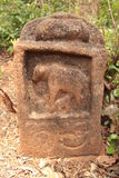 Камень мемориала коровы и икры Стоковое Изображение