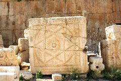 Камень на Баальбеке, Ливане, Ближний Востоке Стоковые Фотографии RF