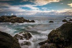 Камень на пляже Стоковые Фото