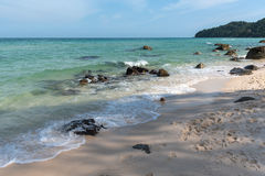 Камень на пляже Стоковые Изображения RF