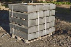 Камень обочины на строительной площадке стоковое фото rf