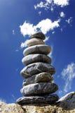 камень пирамидки пляжа Стоковое фото RF