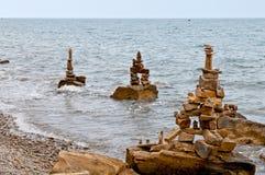 камень пирамиды из камней Стоковое Изображение RF