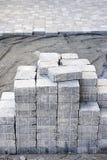 камень подъездной дороги блокируя Стоковая Фотография