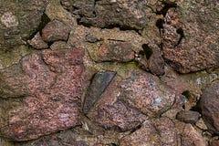 Камень предпосылки текстуры гранита грубый в пылинке минерала конца-вверх Стоковое Фото