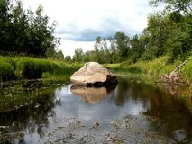 камень реки Стоковое Фото